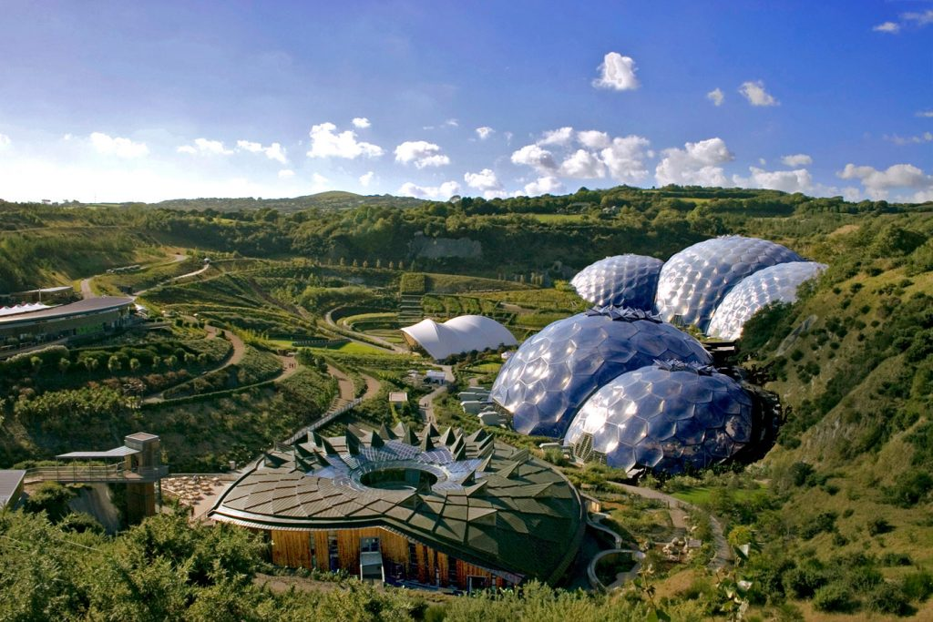 Eden Project near Perranporth in Cornwall